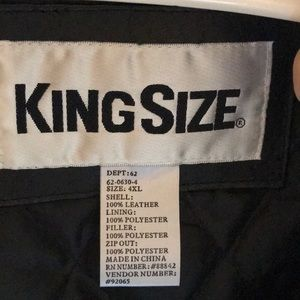 Kingsize Jackets & Coats - Mens Leather Bomber Jacket